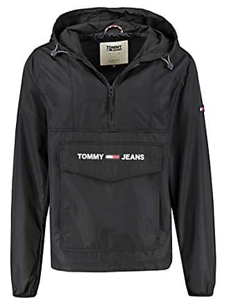 Para Hombre Shell Nylon Jeans Black Tjm Xxl Solid tommy 078 Tommy Chaqueta Popover Negro 8x04w86q