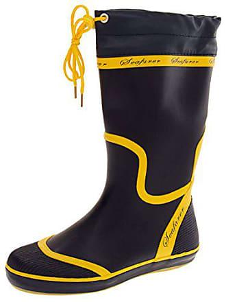Seafarer Gelb Yellow amp; Navy Stiefel 37 Blue Größe Damen 5 qAx4wOqEZ