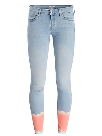 Jeans THE SKINNY CROP UNROLLED - CORAL BLEACH 7 For All Mankind