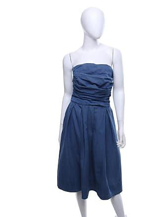 gebraucht - Bandeau-Kleid aus Denim - DE 40 - Damen - Blau - Baumwolle Acne Studios