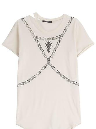 Baumwoll-Shirt mit Print und Cut-Out Alexander McQueen