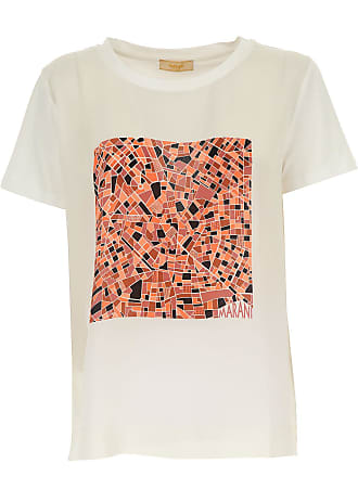 T-Shirts für Damen, TShirts Günstig im Sale, Weiss, Baumwolle, 2017, 40 42 44 46 48 Angelo Marani