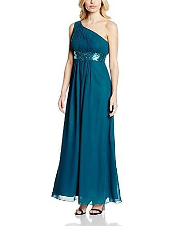 Damen Kleid One Shoulder mit Pailletten Astrapahl