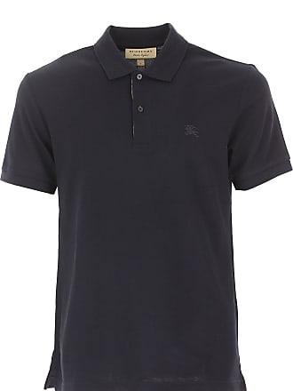 Burberry Polo Shirt for Men On Sale, Pale Blue, Cotton, 2017, L M