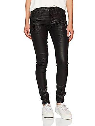Damen Skinny Coated Jeans Cream