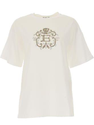 T-Shirts für Damen, TShirts Günstig im Sale, Weiss, Baumwolle, 2017, 42 Ermanno Scervino