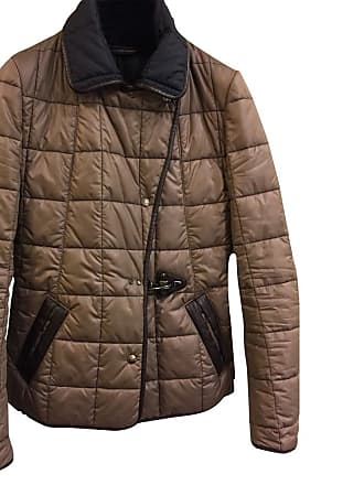 gebraucht - Jacke mit Lederapplikationen - S - Damen - Braun - Polyamid Fay