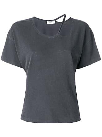T-Shirt mit Cut-Out - Grau Frame Denim