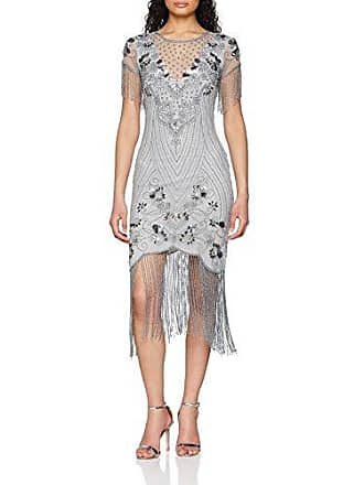 Damen Partykleid Embellished Flapper Dress with Beaded Tassles Frock and Frill