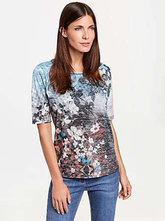 1/2 Arm Shirt mit Ausbrenneroptik Blau Damen Gerry Weber
