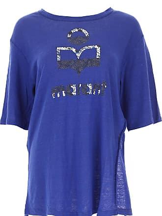 T-Shirts für Damen, TShirts Günstig im Sale, Blau, Leinen, 2017, 38 40 42 Isabel Marant