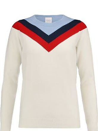 Madeleine Thompson Woman Leo Striped Wool And Cashmere-blend Top Ivory Size XS Madeleine Thompson Outlet Cost z7ZC0OMRV