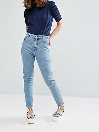 kimomo mom jeans - Blau Monki