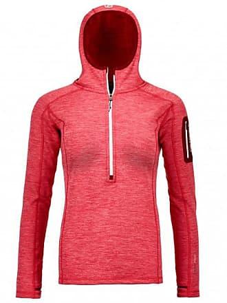 Fleece Light Melange Zip Neck Fleecepullover für Damen   rot/rosa Ortovox