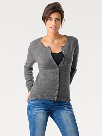 Damen Cardigan Kaschmir, grau, Länge ca. 60 cm Ashley Brooke by Heine