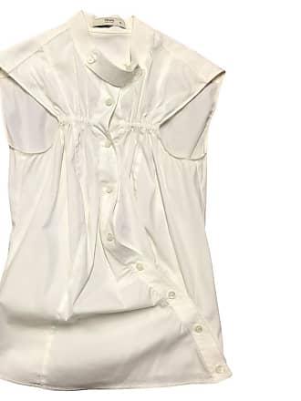 gebraucht - Ärmellose Bluse in Weiß - DE 36 - Damen - Baumwolle Prada