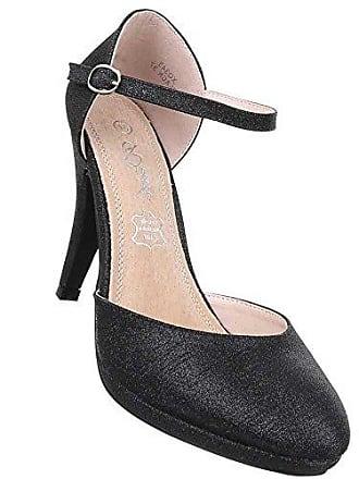 Damen Pumps Schuhe High Heels Stiletto Abendschuhe Club Party Stiletto mit Riemchen Schwarz 39 Schuhcity24 TRoTghS