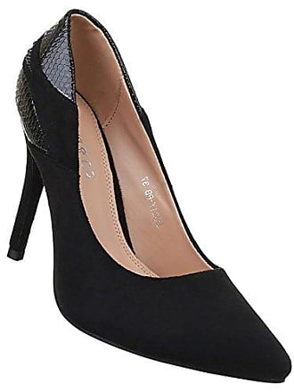 Damen Pumps Schuhe High Heels Stiletto Abendschuhe Schwarz 38 Schuhcity24 NDDg5