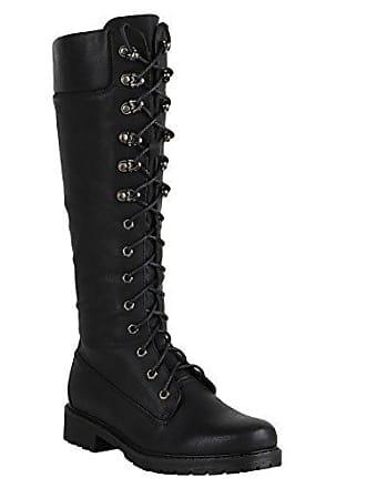 Damen Stiefel Worker Boots Profilsohle Schnürstiefel Schuhe 149553 Schwarz Autol 36 Flandell Stiefelparadies kpXxv7WaZ