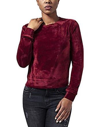 TB1352 Damen Sweatshirt Ladies Short Velvet Crew Urban Classics