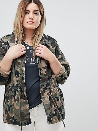 Jacke mit Military-Muster - Grün Zizzi
