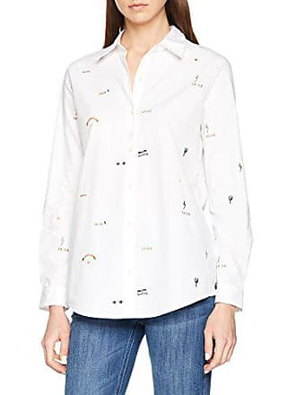 06 amp; white With Embroideries Shirt Cotton Up Small Button Femme Chemise Allover Blanc Scotch Maison Soda C4xwRq6R