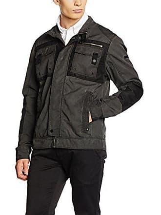Colin black Hombre Brandit Medium Negro Para Bikerjacket Chaqueta Uwqd8pS