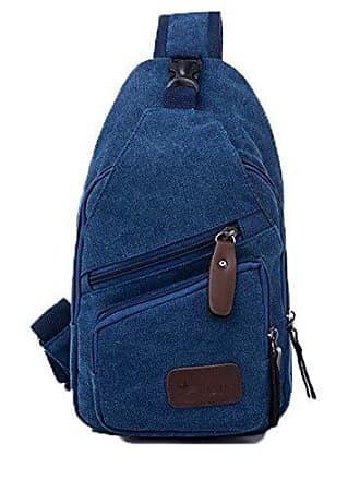 Beiläufig Allhqfashion fbuybd180917 Taschen Umhängetaschen Einkaufen Damen Segeltuch blau BInw1ISq7