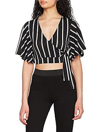 Crop New 46 Negro modello Cape Mujer Para 9 nero Look Sleeve Camiseta SwOxwUZq