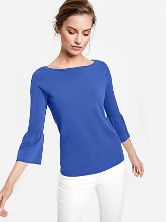 Volant Damen Blau Pullover Mit Taifun ärmeln SzpLMGVqU