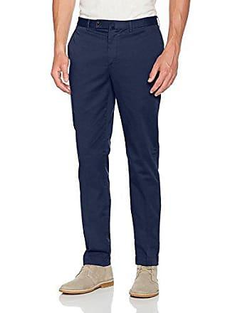 Hackett uomo pantaloni 34l Kensington 9hv vecchio 36w Chino acciaio blu per Slim aXwarFfq