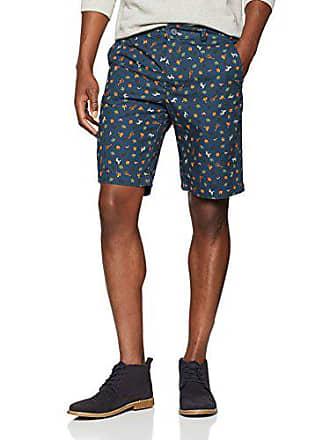 Hombre Para allover Cortos Print Benetton Blue Bermuda Pantalones 54 77j Background In xqXxIt