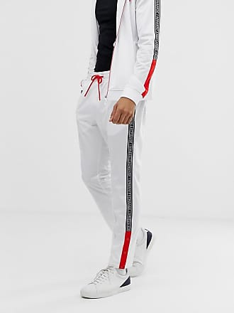 Côté Sur Bande De Avec En Blanc Pantalon Armani Le Navy Logo Molleton à Jogging xpPwcZqz