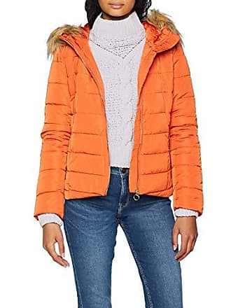 Arancione Burnt Giacca Donna Jacket Quilted Hood Ochre Onlnew Otw Only Fur Ellan wnvz1qx0g