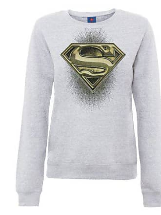 Superman Official königsblau Blu Womens 44 Shatter Dc Logo Comics blau Felpa Sweatshirt Donna Universe tEfqxwRU