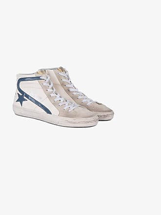 Goose Golden Slide Sneakers Blue White Top Hi ZSwS6q