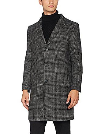 Hymn Manteau Overcoat L London Grey Homme Checked Gris vq4Rvx6wrn