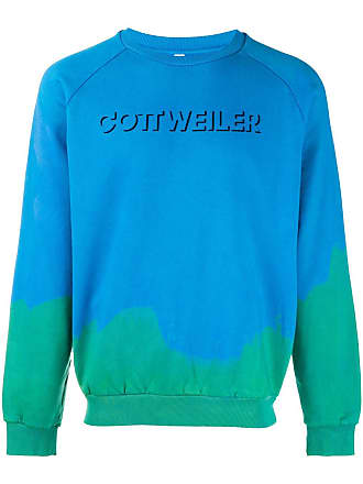 Cottweiler Print Colore Hoodie Logo Blu Di aA6aw