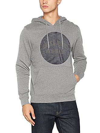 amp; Hood light Homme Shirt reg Jcodouble Gris Melange Sweat Small Grey Jack Fit Jones 5XTqXw7x