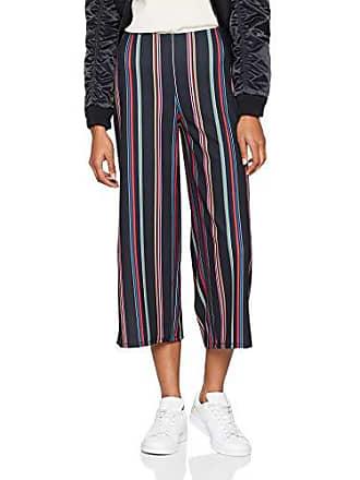Negro black Del Pattern 36 talla Scuba Pantalones 8 Para New Mujer Stripe Hector Look Fabricante wZWnxq07F