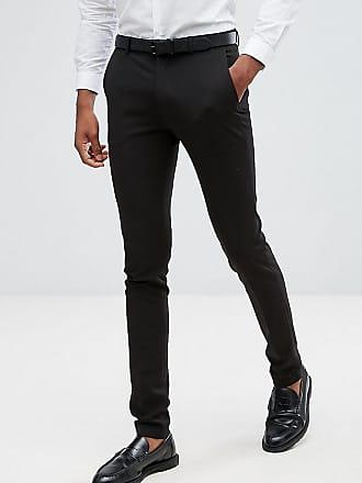 Muy Pantalones Tall En Negro Asos Traje Ajustados De Design qBwW86St