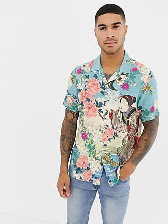 Design De Estándar Camisa Con Floral Corte Asos Estampado w7zARx8Rq