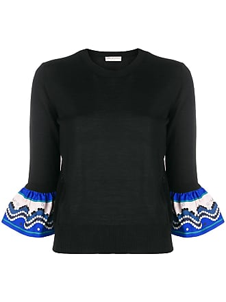 Fitted Noir Pucci Contrast Sweater Emilio hem Bt1xwZ