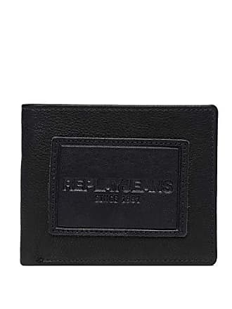Mens Mens Leather Wallet Leather Wallet Replay Replay Black HeEDW2Y9I