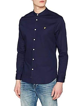 Scott navy Hombre amp; Casual large Grandad Camisa Blue Z99 Slim Fit Lyle Collar Xx Shirt Para fHCwqw5