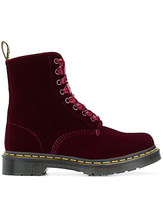 Dr En Martens Rouge Bottines Velours wYAxSp