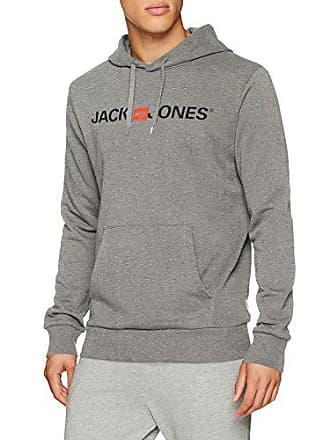 Hombre Gris Jones amp; Grey Logo Detail Small light reg Noos Jack Jjecorp melange Capucha Sweat Para Fit Hood zvWqnU7