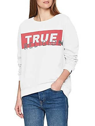 Damen Sweat Sweatshirt Crew White True Religion OZiPkuX