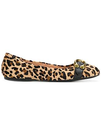Shoes Coach Ballerina Tons Neutres Leopard OwxzREq