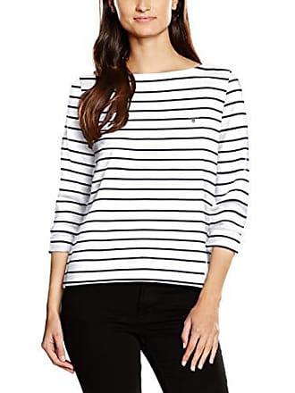 36 Ecru Stripe eggshell small taille X Gant Manches Breton À T Boatneck Femme Longues Jumper shirt Fabricant w75qv